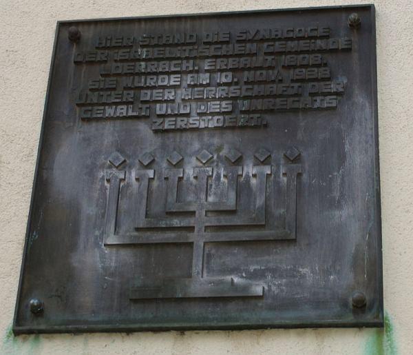 Gedenktafel der Synagoge