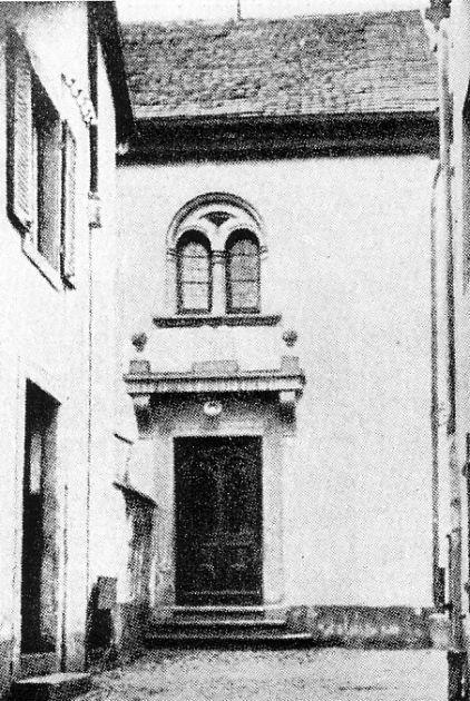 Außenaufnahme der Synagoge in Lörrach