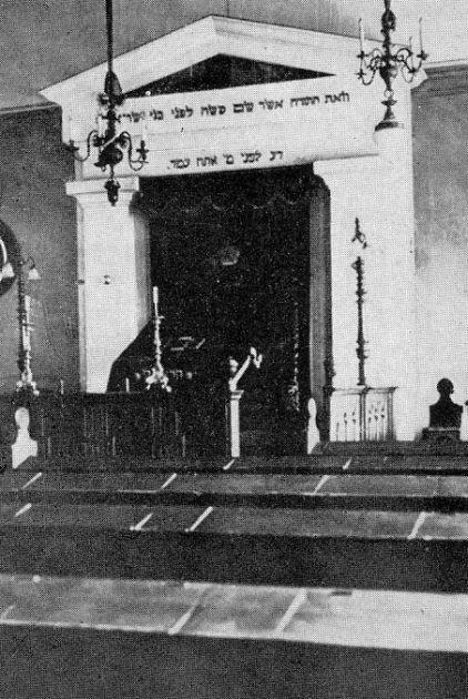 Innenaufnahme der Synagoge in Lörrach