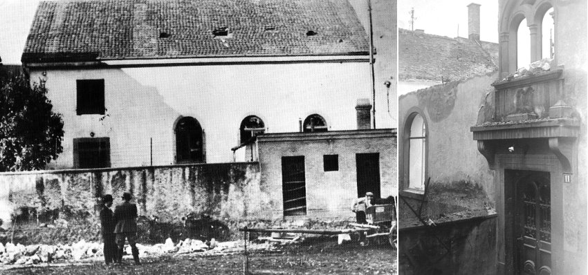 Synagoge nach dem Pogrom